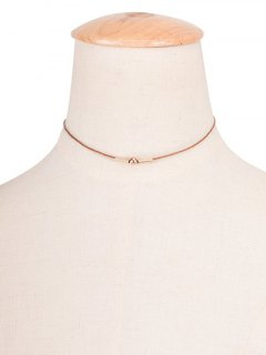 Vintage Rope Copper Bead Choker Necklace - Brown