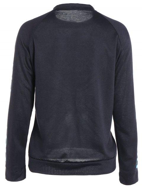 hot Heart Pattern Sweatshirt - BLACK M Mobile