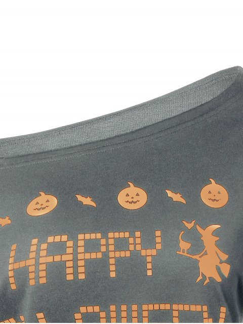shops Witches Halloween Sweatshirt - GRAY S Mobile