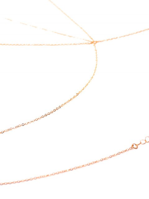 buy Alloy Hollow Out Triangle Body Chain - GOLDEN  Mobile