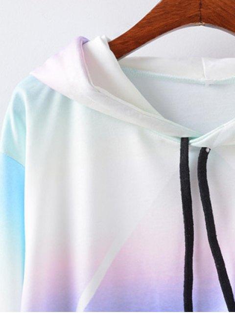 ladies Sky Print Drawstring Hoodie - COLORMIX XL Mobile