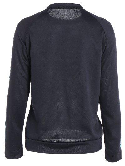 Heart Pattern Sweatshirt - BLACK L Mobile