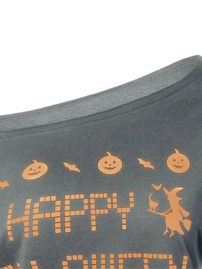 Witches Halloween Sweatshirt - GRAY S Mobile