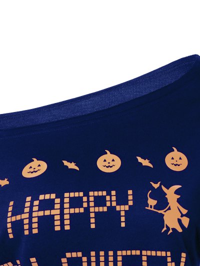 Witches Halloween Sweatshirt - BLUE M Mobile