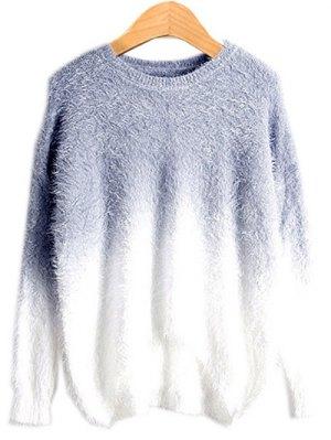 Ombre Mohair Sweater - Smoky Gray