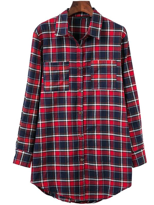 Plaid Oversized Shirt With Pockets