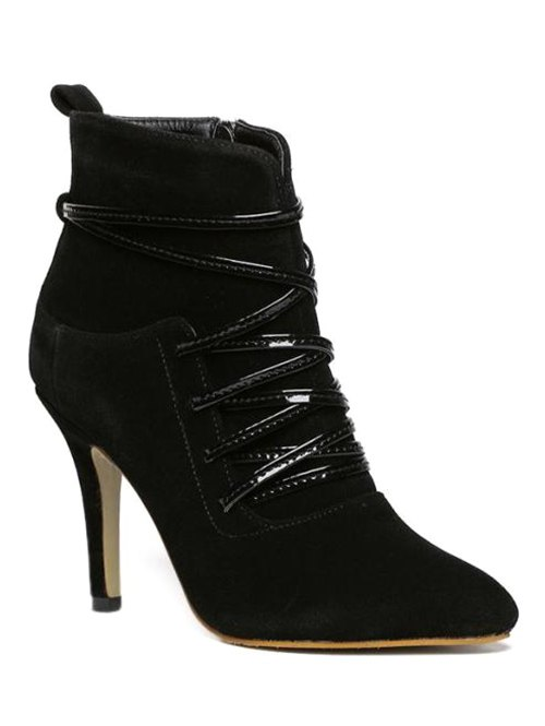 Cross Straps Zipper Ankle Boots