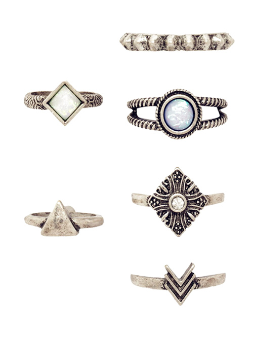 Tribal Geometry Retro Rings