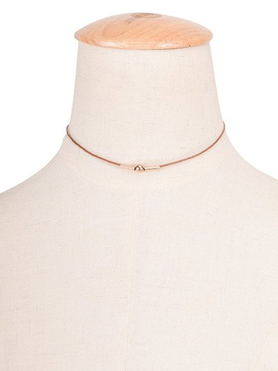 Vintage Copper Bead Rope Choker Necklace