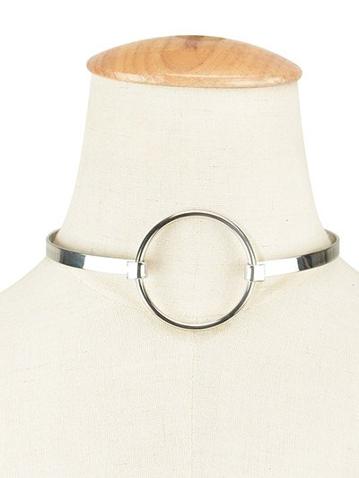 Alloy Round Hollow Out Choker Necklace