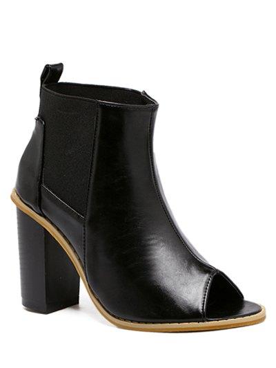 Peep Toe Elastic Ankle Boots