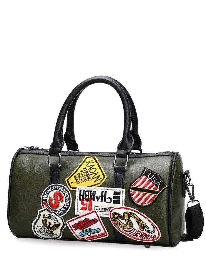 Appliques PU Leather Tote Bag 195892303