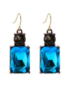 Square Faux Crystal Rhinestone Drop Earrings