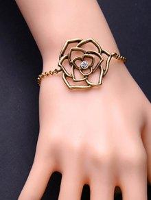 Metal Flower Adjustable Filigree Charm Bracelet