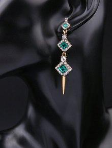 Rhinestone Faux Crystal Turquoise Stud Earrings