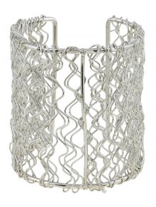 Poli Vague Filigrane Cut Out Bracelet - Argent