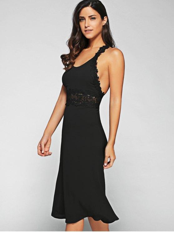 Racerback Lace Midi Dress - BLACK XL Mobile