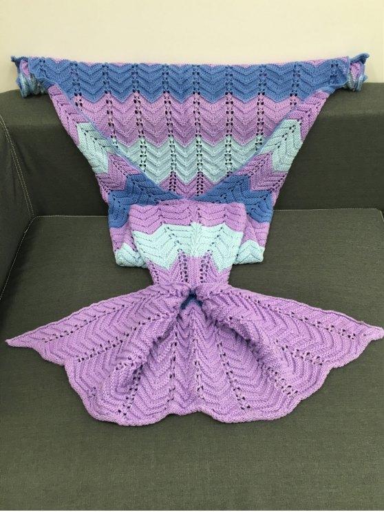 Openwork Knitting Mermaid Blanket -   Mobile