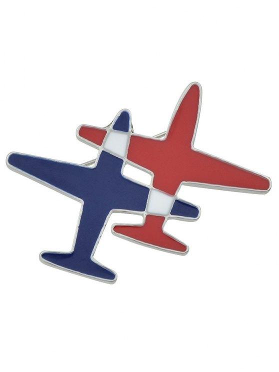 Flight Shape Enamel Brooch -   Mobile