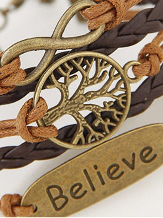 Tree of Life Braided Bracelet - BROWN  Mobile