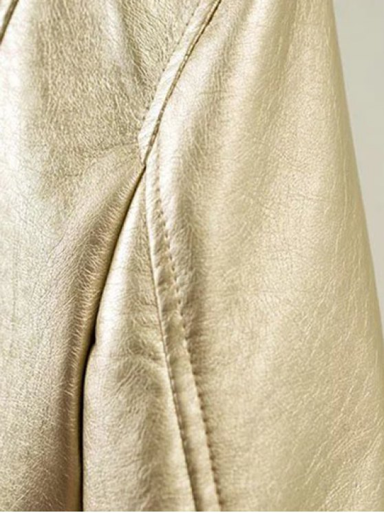 Metallic Color Bomber Jacket - CHAMPAGNE XL Mobile