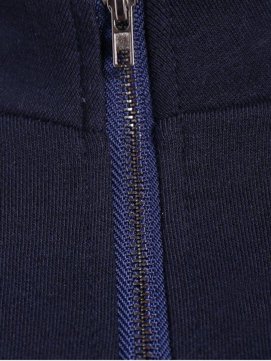 Letter Print Plus Size Sweatshirt - DEEP BLUE 2XL Mobile
