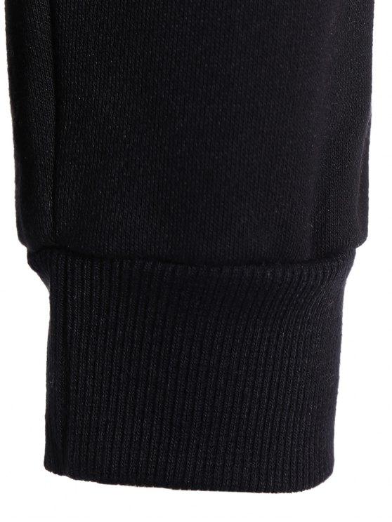Color Block  Zip Up Hoodie With Pants - BLACK 2XL Mobile