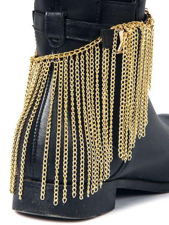 Chain Tassel Boot Anklet -   Mobile