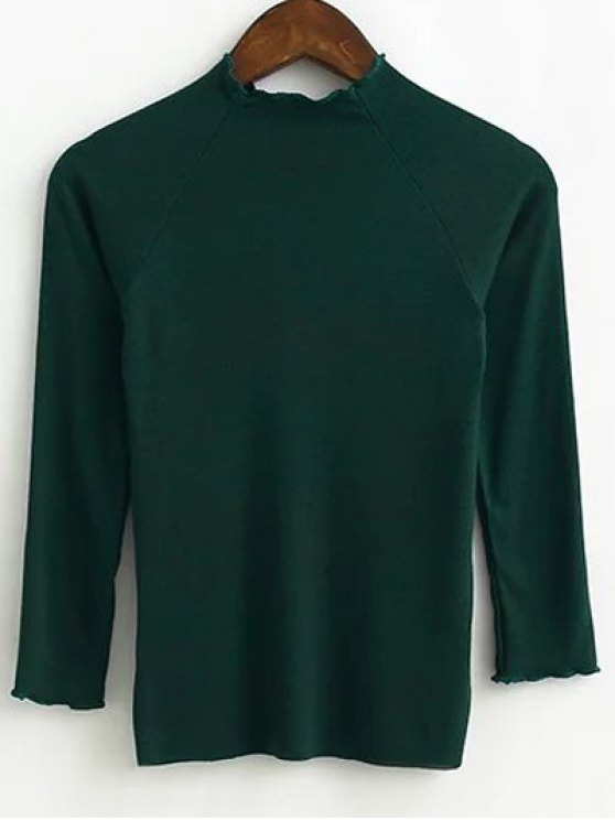 Prendas de punto de montaje - Verde negruzco M