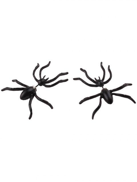 Forme Spider Boucles d'oreilles - Noir  Mobile