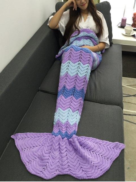 women's Openwork Knitting Mermaid Blanket -   Mobile
