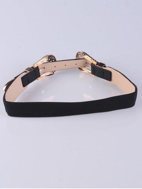 shops Double Filigrain Buckles Belt - GOLDEN  Mobile
