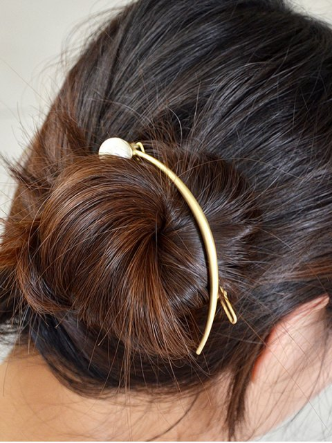 online Ball Artificial Pearl Barrette - GOLDEN  Mobile