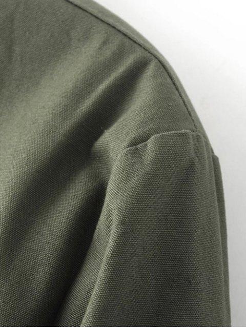 shop Thick Bomber Jacket - PURPLISH BLUE S Mobile
