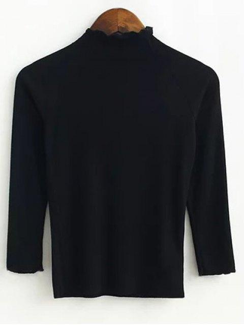 womens Fitting Knitwear - BLACK S Mobile