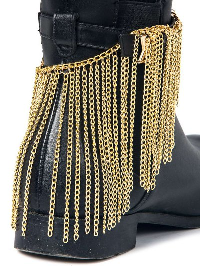Chain Tassel Boot Anklet - GOLDEN  Mobile