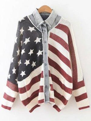 American Flag Dolman Cardigan