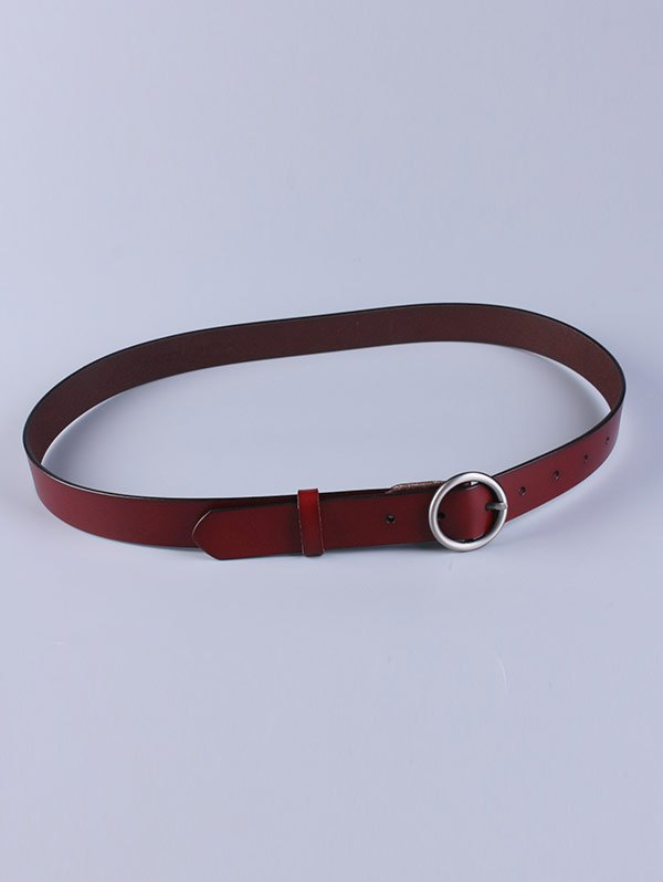 Pin Buckle Faux Leather Belt