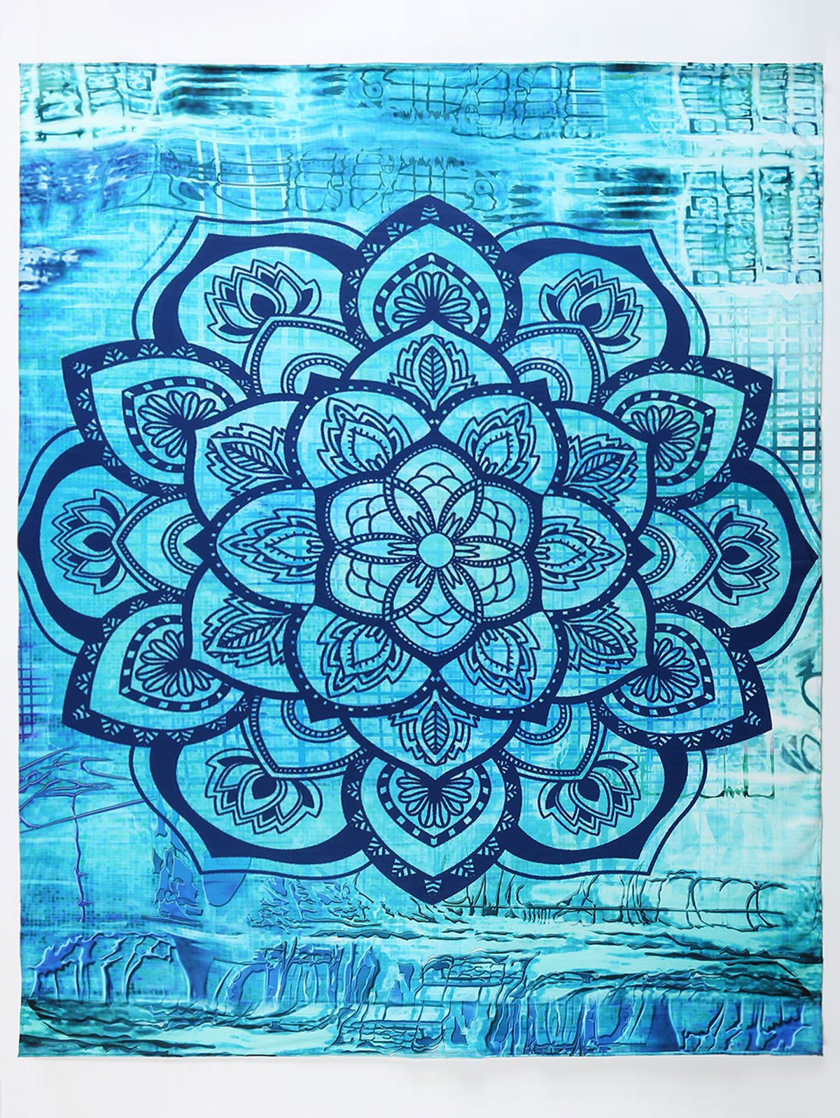 Hippy Yoga Mat Throw Tapestry Beach Throw