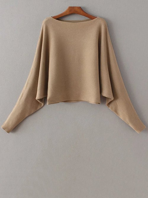 Slash Neck Batwing Sweater