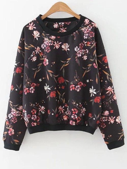 Floral Print Crewneck Sweatshirt