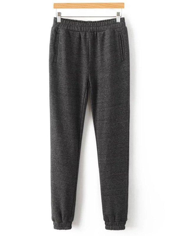Elastic Waist Casual Pants