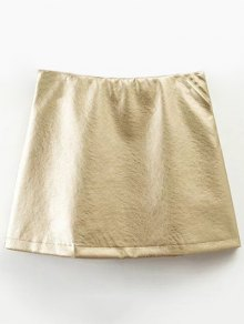 Mini Metallic Color Skirt