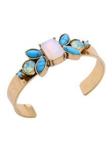 Faux Gem Turquoise Geometric Bracelet
