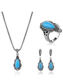 Buy Vintage Style Turquoise Jewelry Set LAKE BLUE