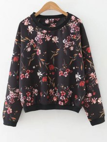 Floral Print Crew Neck Sweatshirt