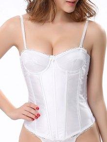 Strap Laciness Convertible Corset - White