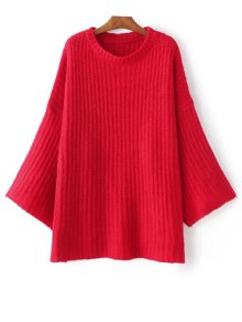 Casual Flare Sleeve Sweater