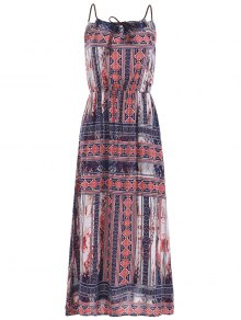 Gathered Neckline Maxi Dress