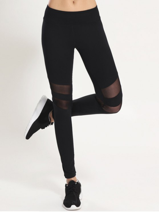 Mesh Panel Leggings - Negro S